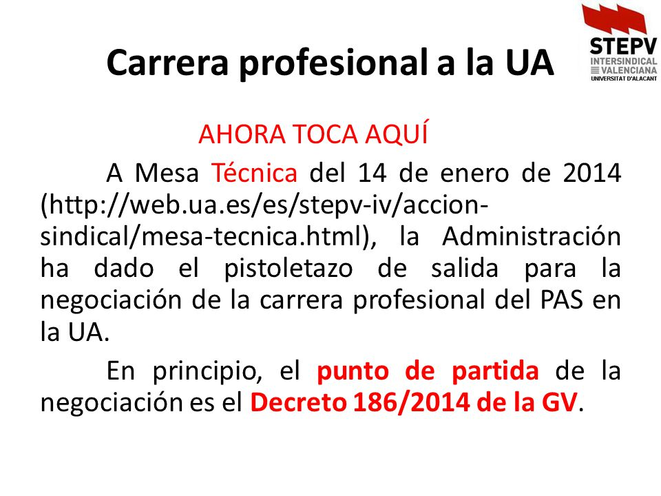 Carrera profesional a la UA