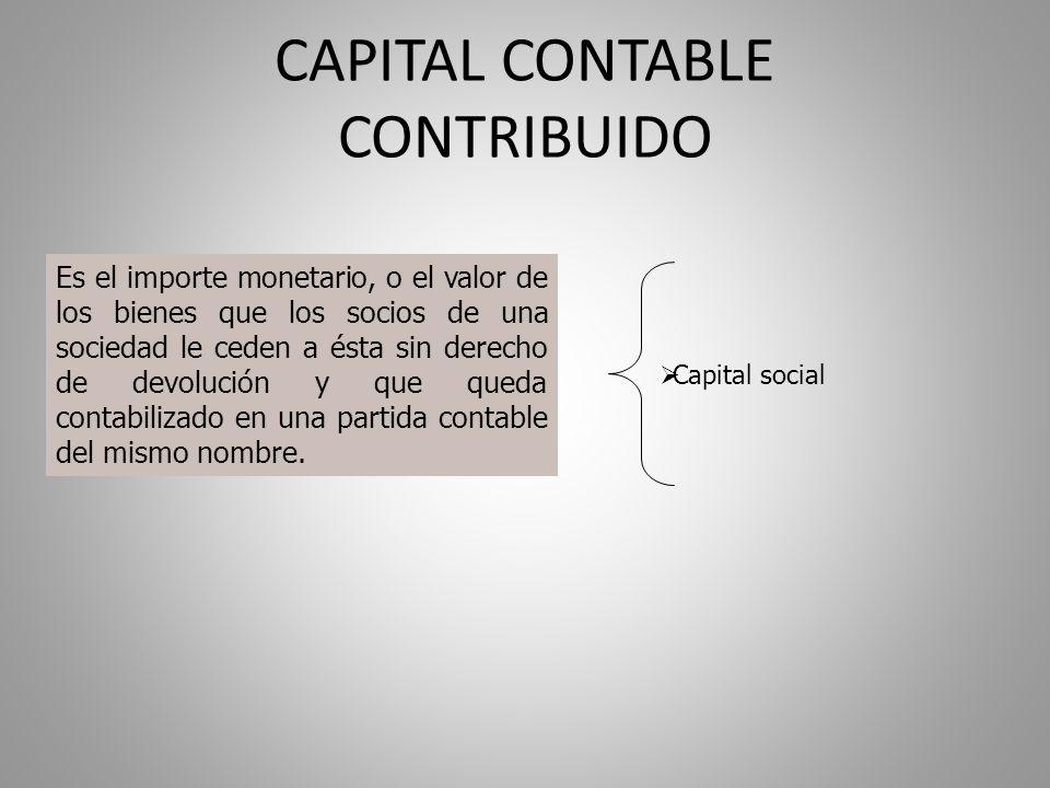 CAPITAL CONTABLE CONTRIBUIDO