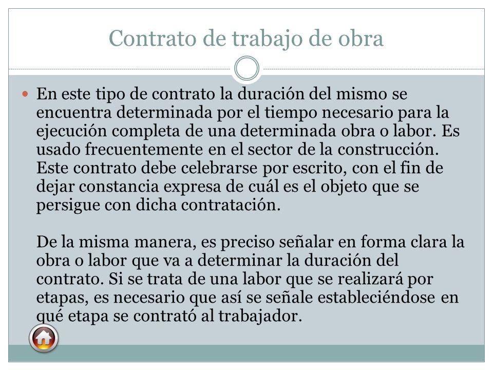 Contrato de trabajo de obra