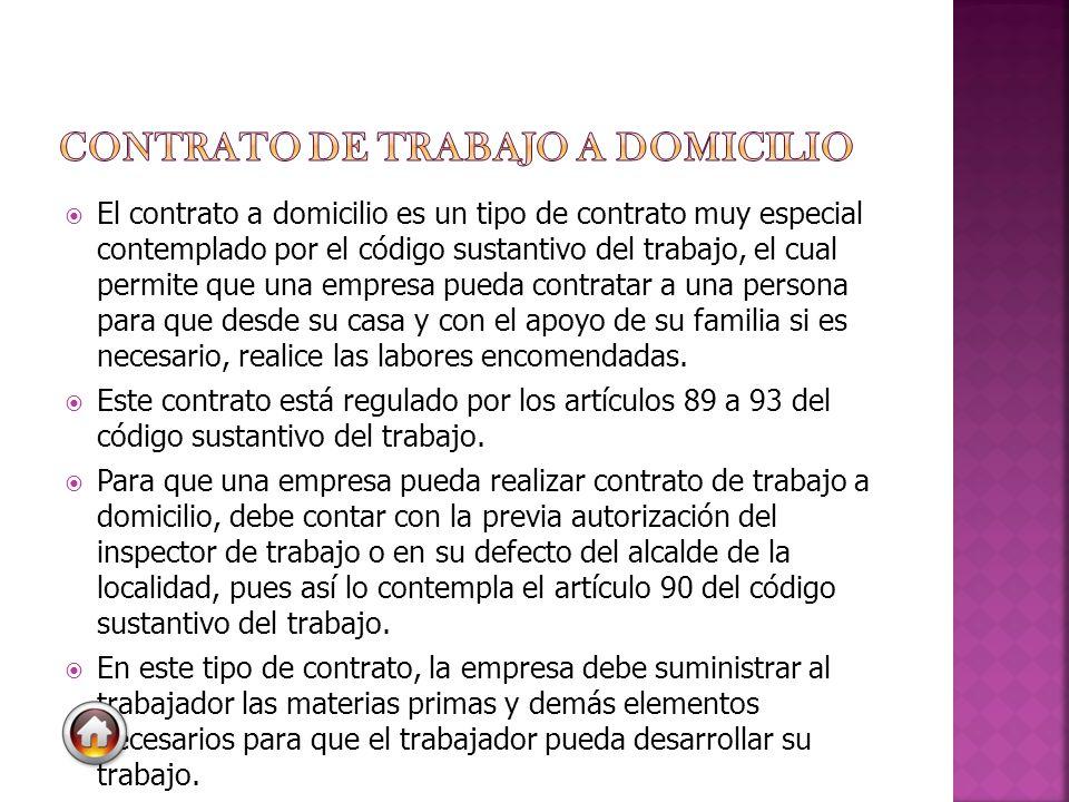 CONTRATO DE TRABAJO A DOMICILIO