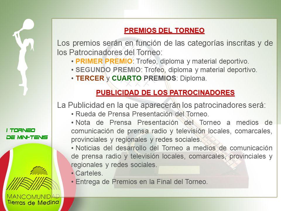 PUBLICIDAD DE LOS PATROCINADORES
