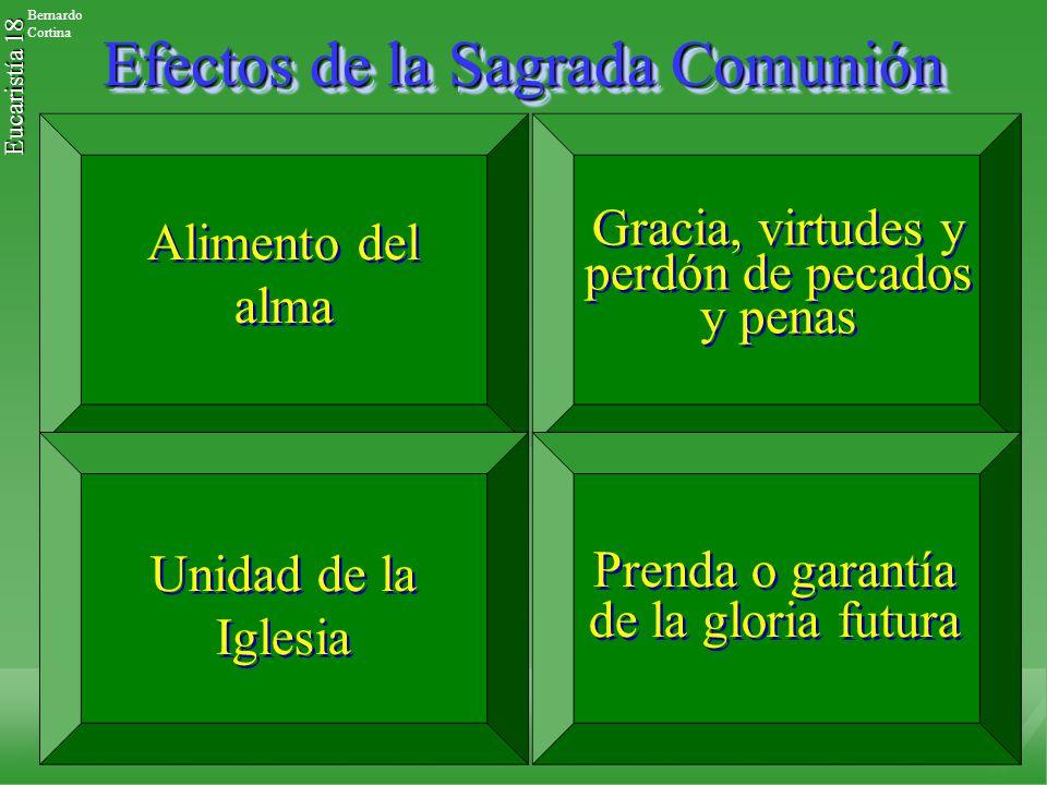 Efectos de la Sagrada Comunión