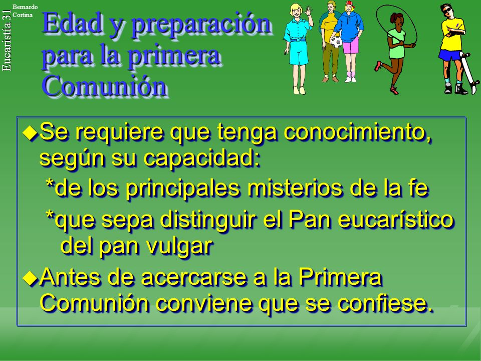 Edad y preparación para la primera Comunión