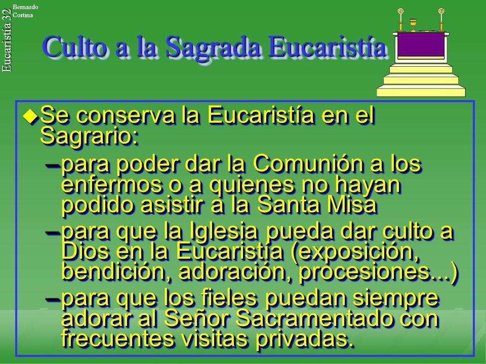 Culto a la Sagrada Eucaristía