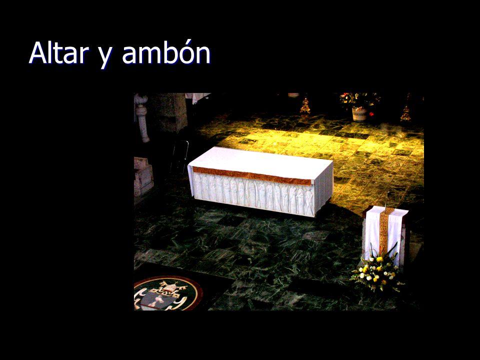 Altar y ambón
