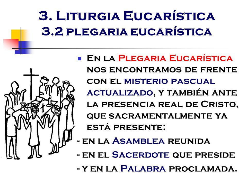 3. Liturgia Eucarística 3.2 plegaria eucarística