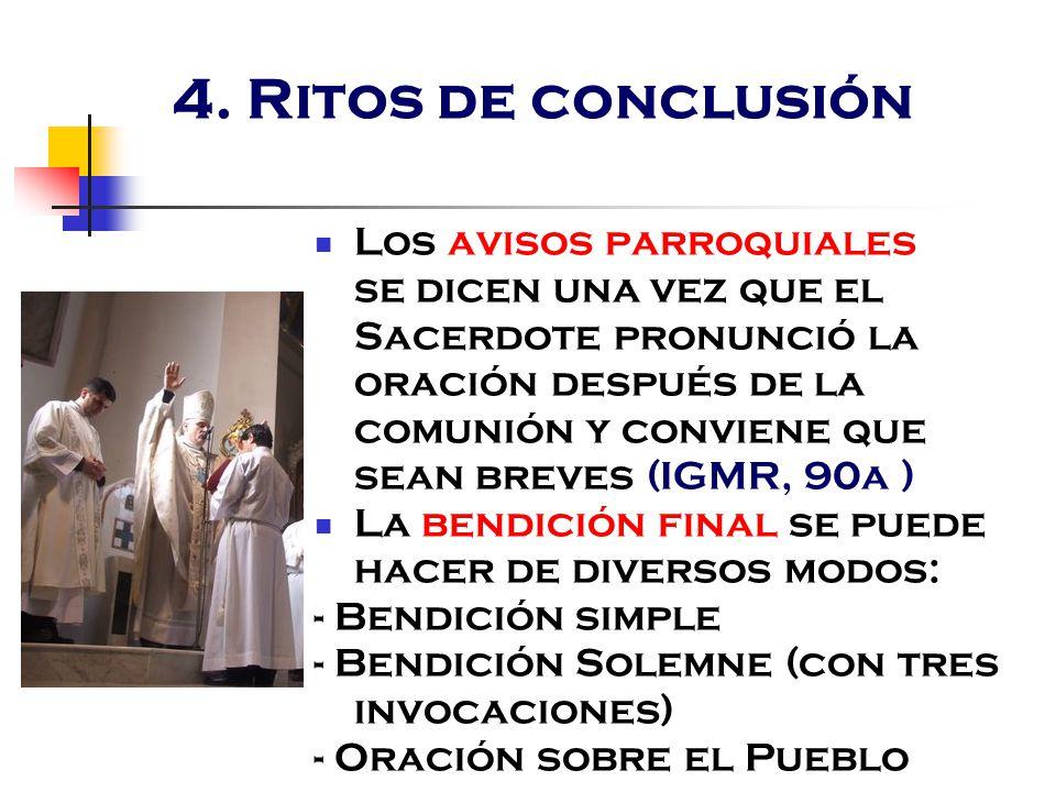 4. Ritos de conclusión