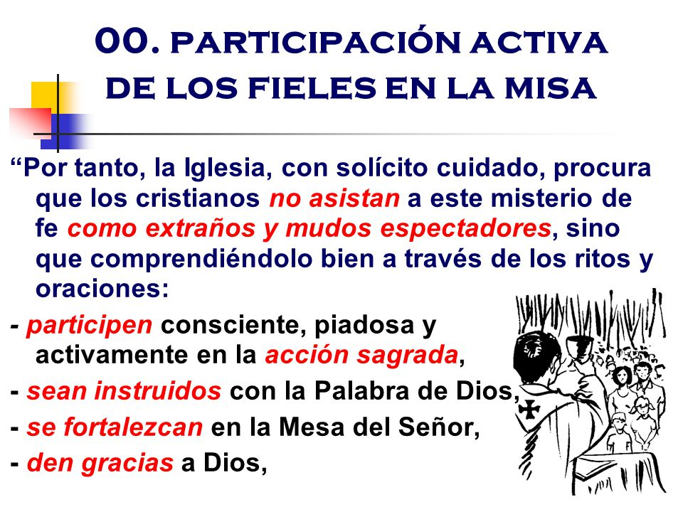 00. participación activa de los fieles en la misa