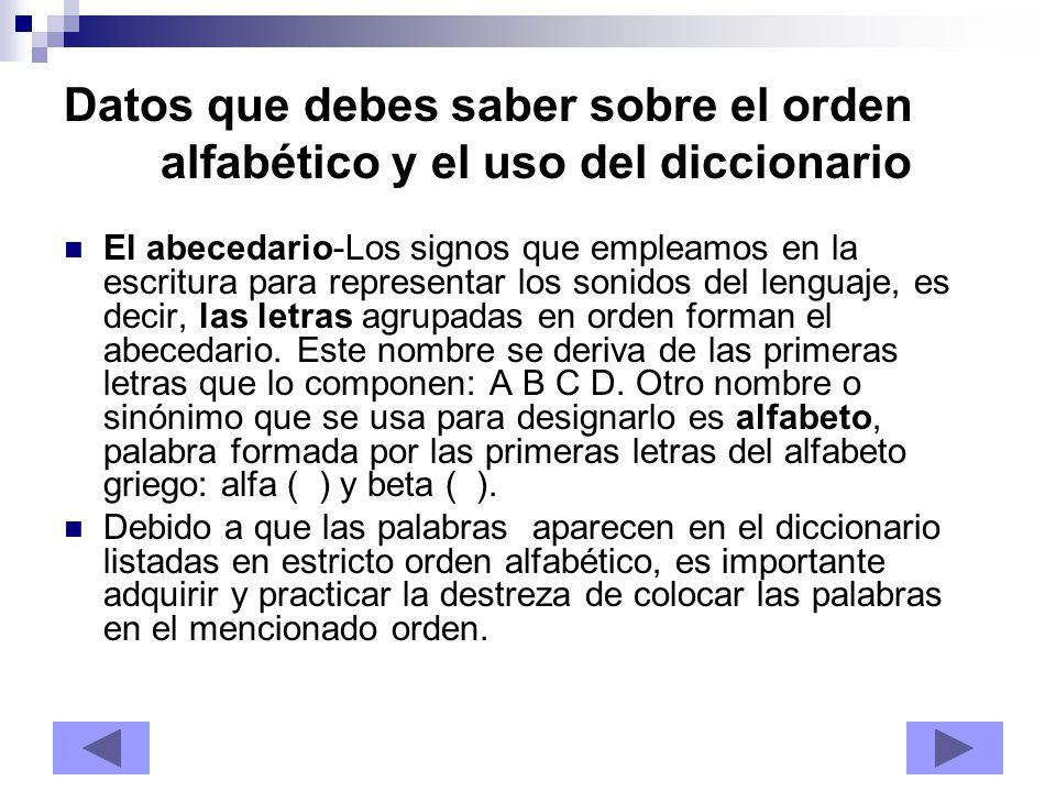 Datos que debes saber sobre el orden alfabético y el uso del diccionario