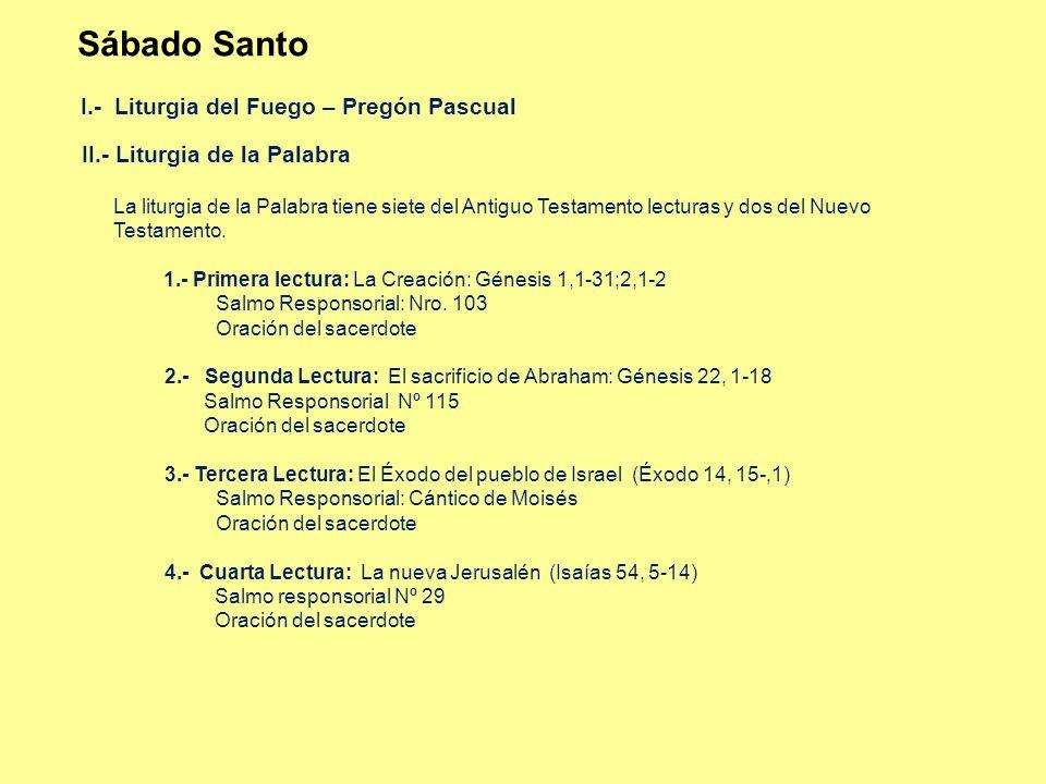 Sábado Santo I.- Liturgia del Fuego – Pregón Pascual