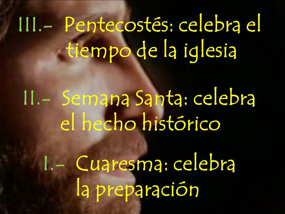 III.- Pentecostés: celebra el
