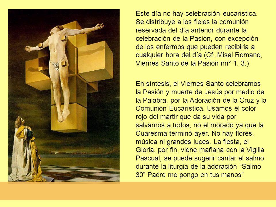 Este día no hay celebración eucarística