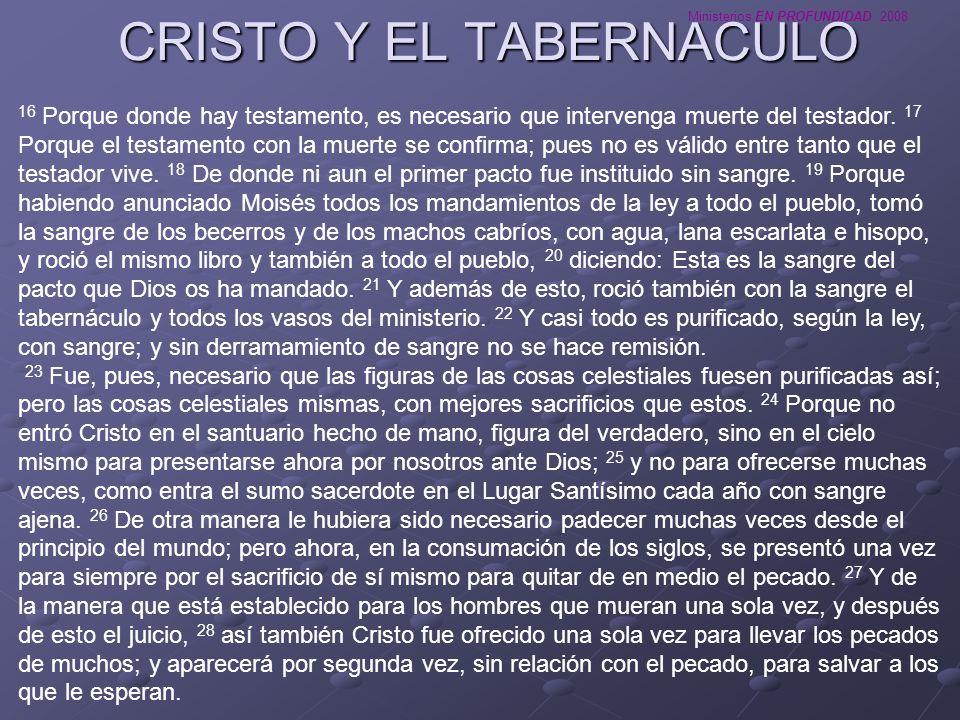 CRISTO Y EL TABERNACULO