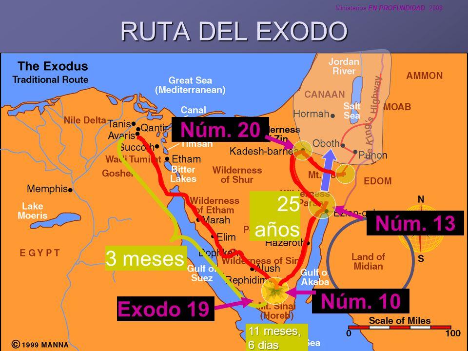 RUTA DEL EXODO Núm. 20 25 años Núm. 13 3 meses Núm. 10 Exodo 19