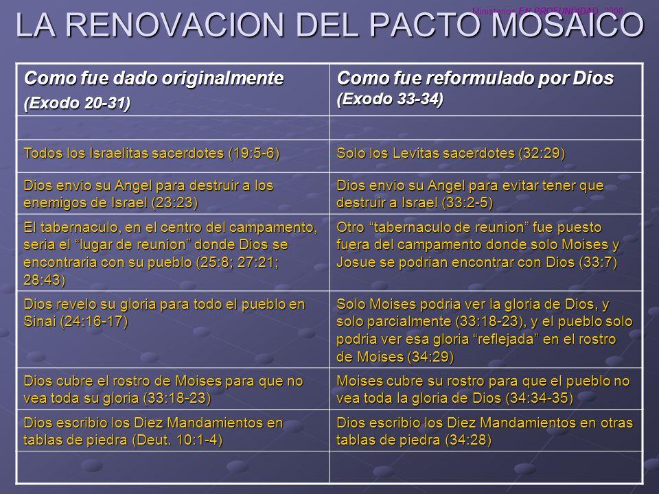 LA RENOVACION DEL PACTO MOSAICO