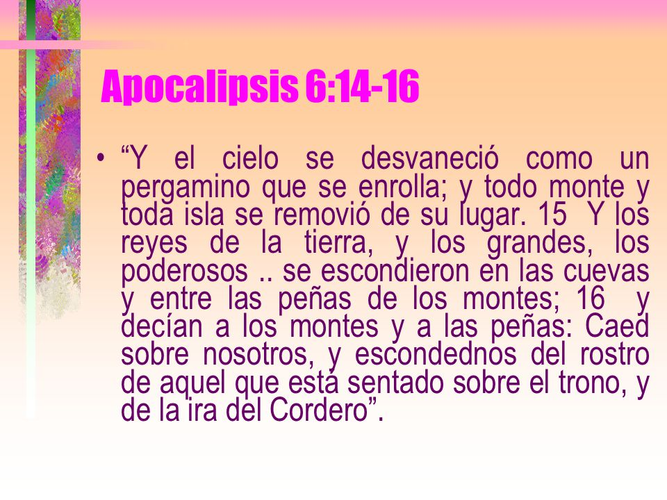 Apocalipsis 6:14-16