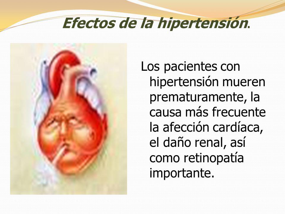 Efectos de la hipertensión.