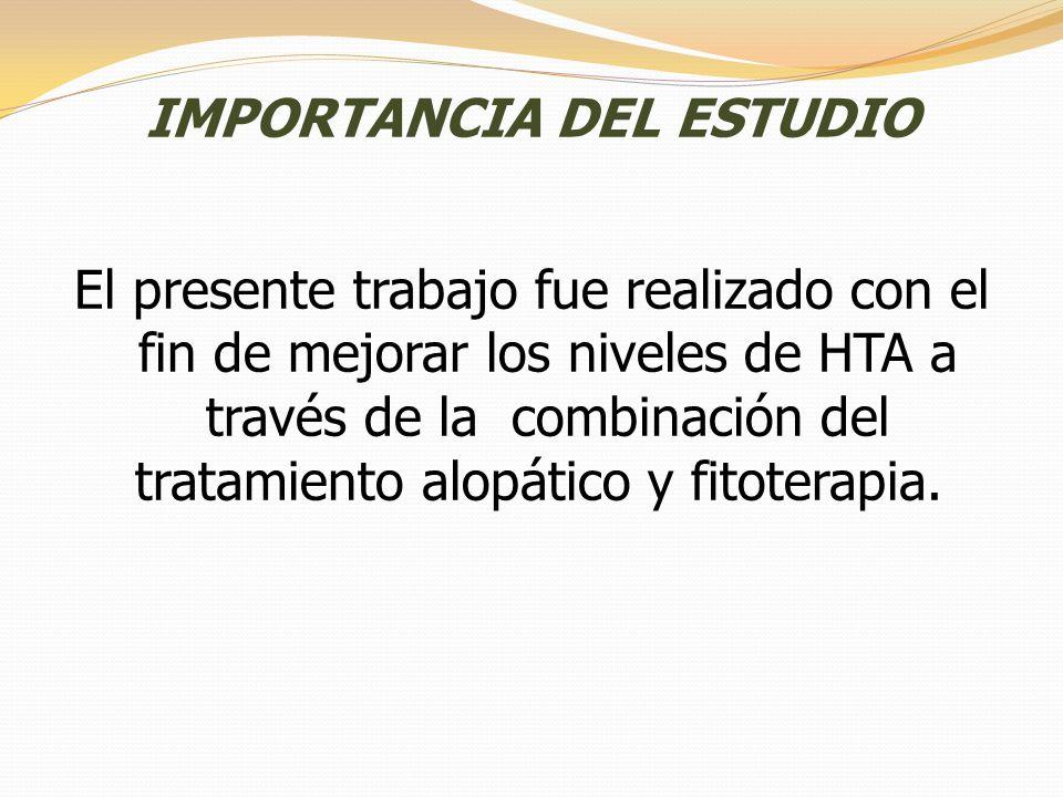 IMPORTANCIA DEL ESTUDIO