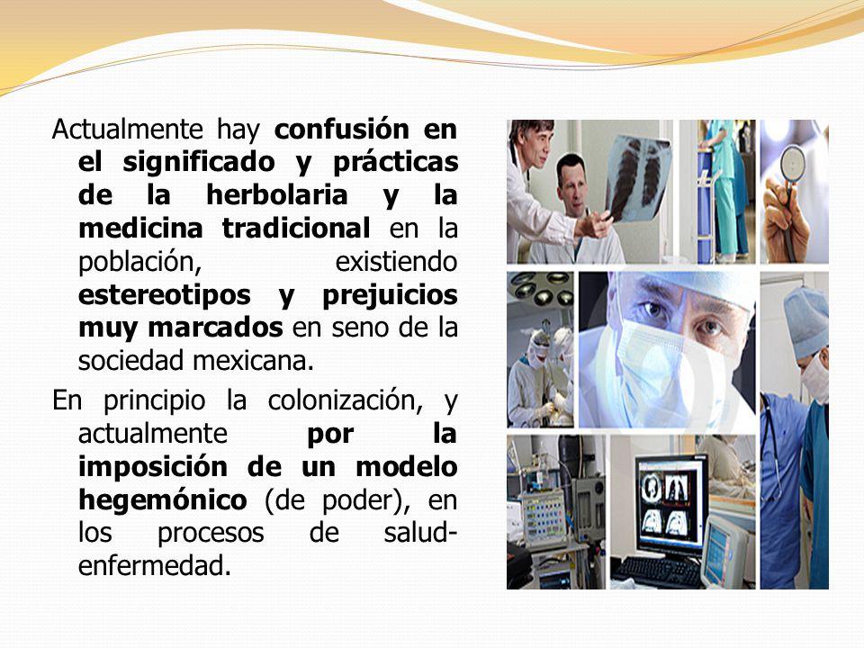 Actualmente hay confusión en el significado y prácticas de la herbolaria y la medicina tradicional en la población, existiendo estereotipos y prejuicios muy marcados en seno de la sociedad mexicana.