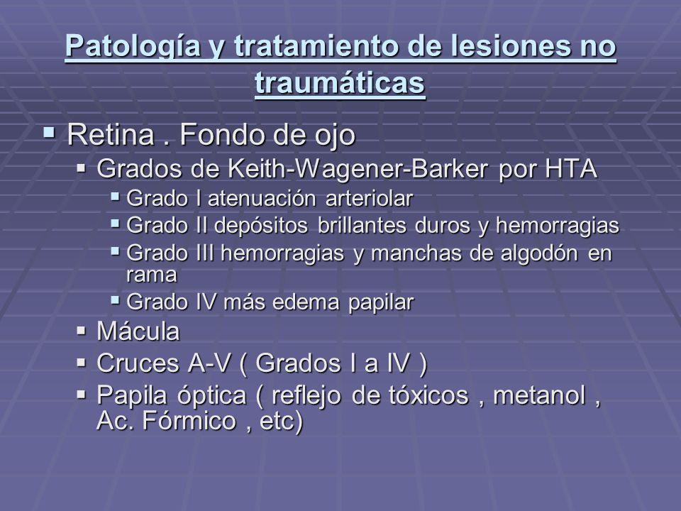 Patología y tratamiento de lesiones no traumáticas