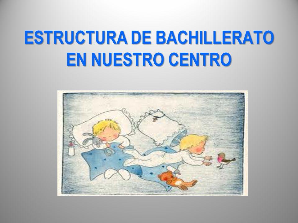 ESTRUCTURA DE BACHILLERATO EN NUESTRO CENTRO