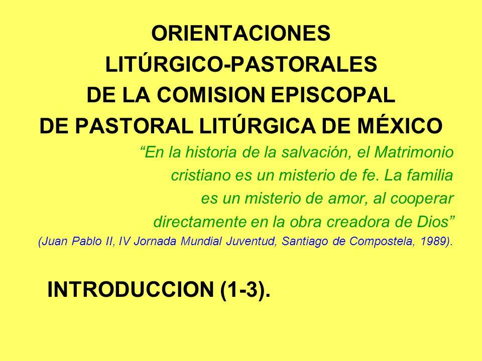LITÚRGICO-PASTORALES DE LA COMISION EPISCOPAL