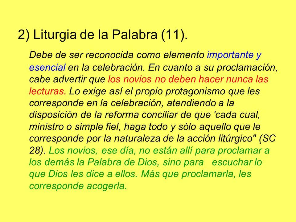 2) Liturgia de la Palabra (11).
