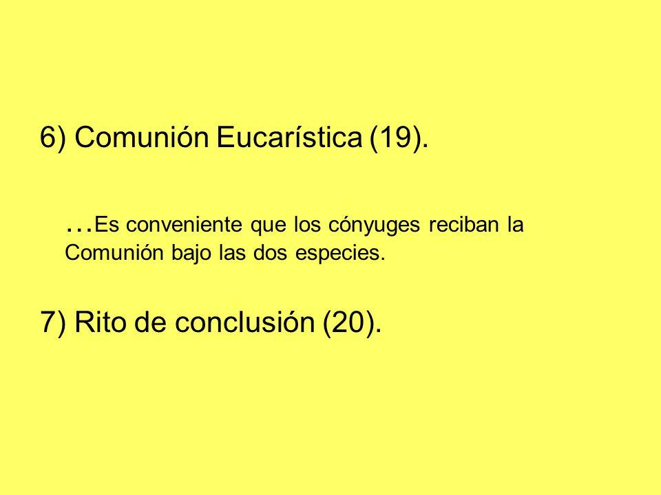 6) Comunión Eucarística (19).
