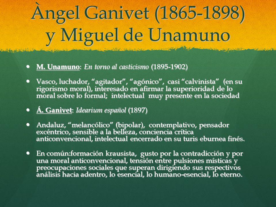 Àngel Ganivet (1865-1898) y Miguel de Unamuno