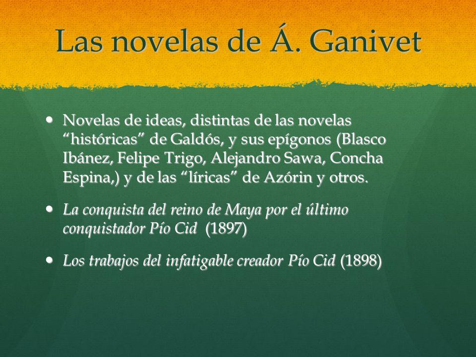 Las novelas de Á. Ganivet