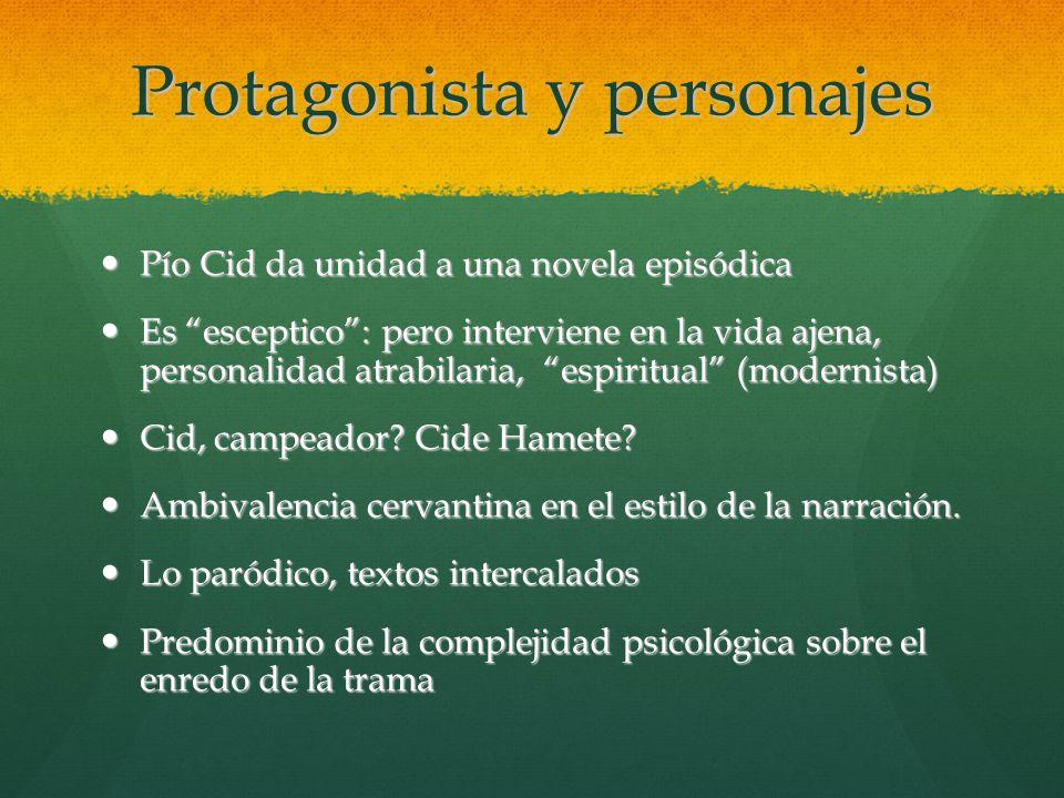 Protagonista y personajes