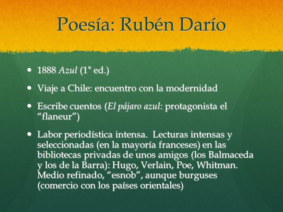 Poesía: Rubén Darío 1888 Azul (1° ed.)