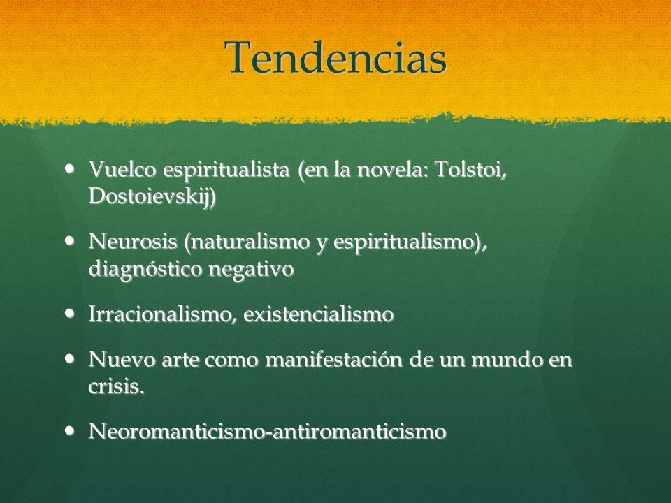 Tendencias Vuelco espiritualista (en la novela: Tolstoi, Dostoievskij)