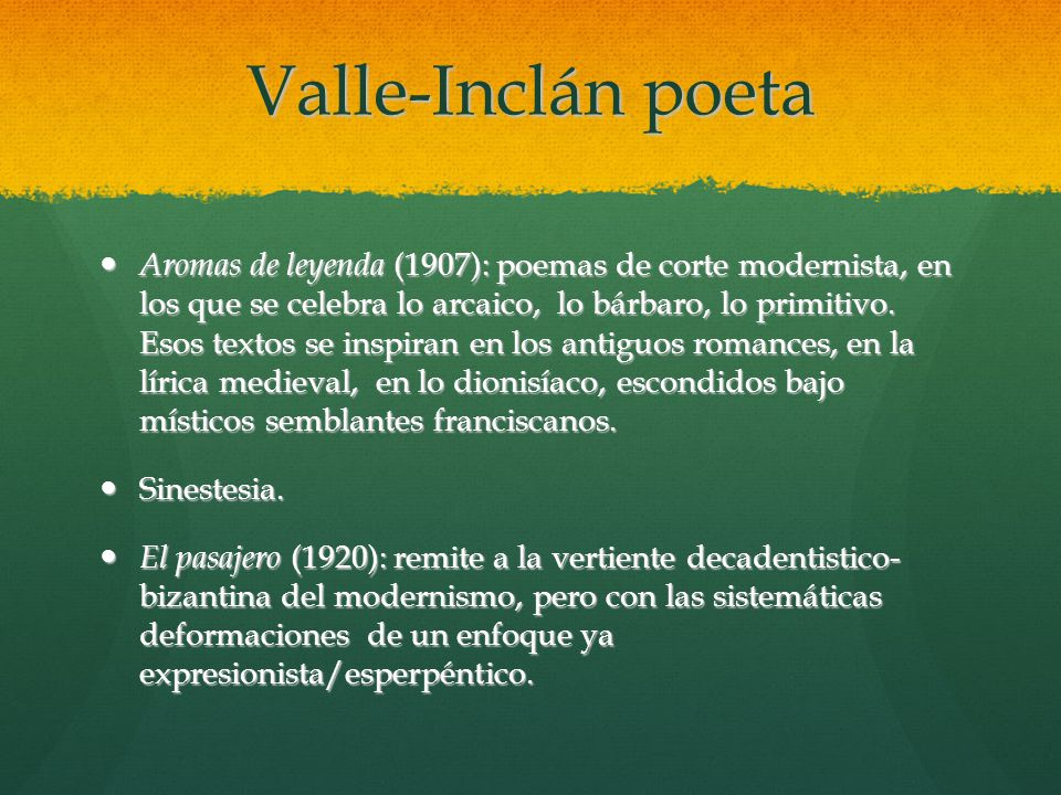 Valle-Inclán poeta