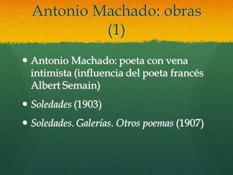 Antonio Machado: obras (1)