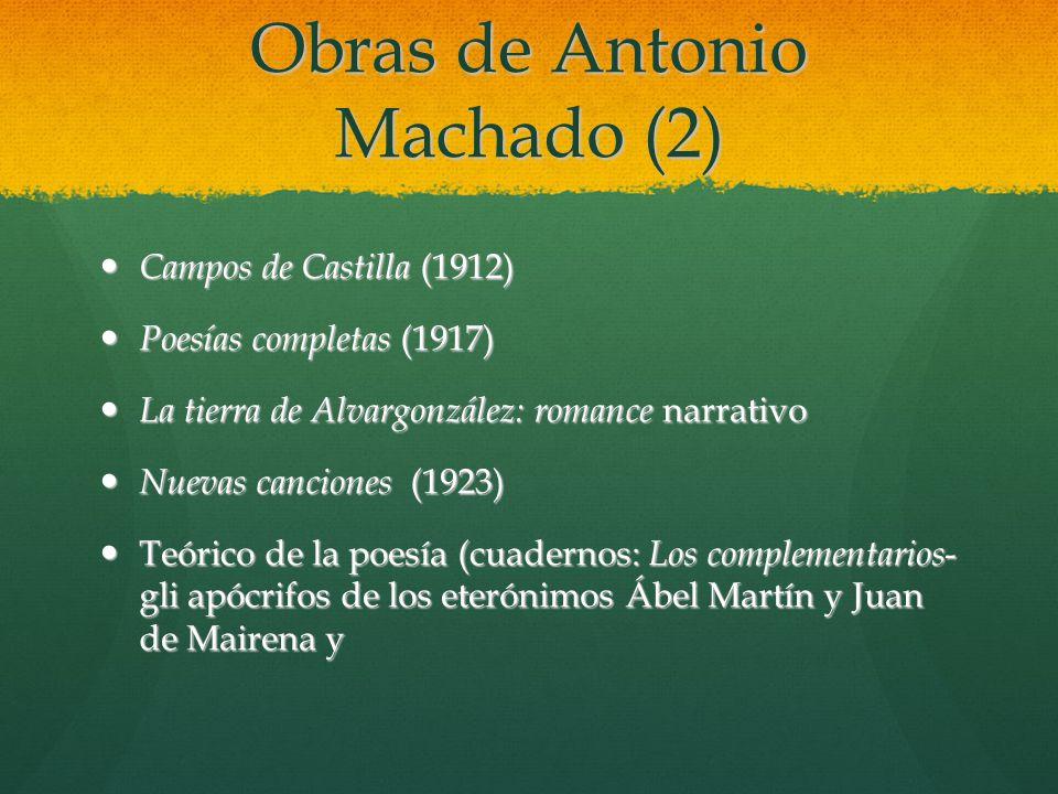 Obras de Antonio Machado (2)