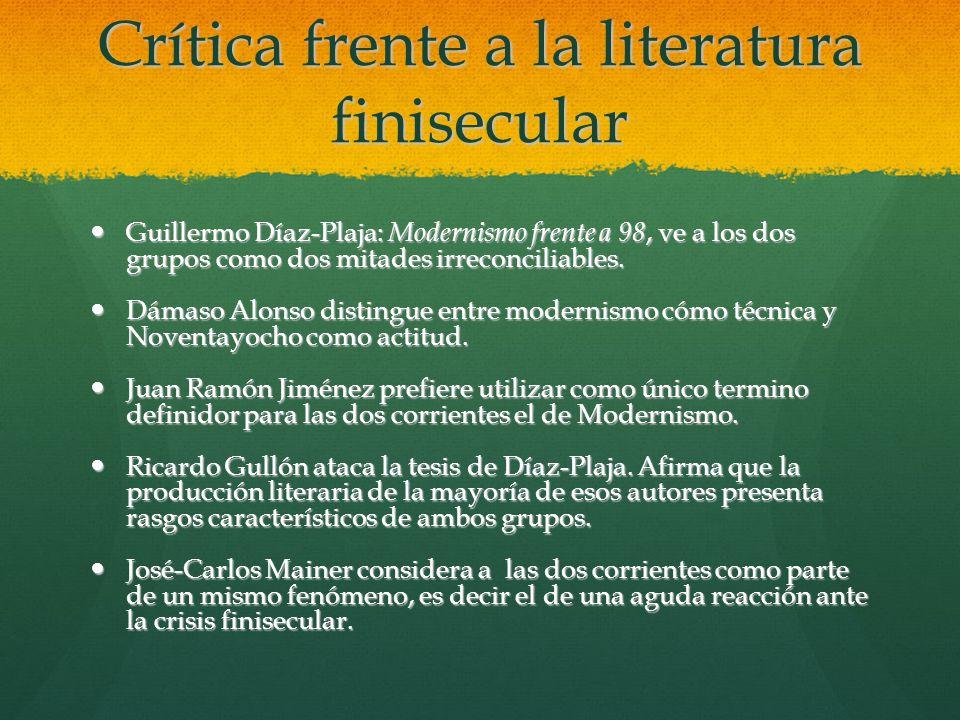 Crítica frente a la literatura finisecular