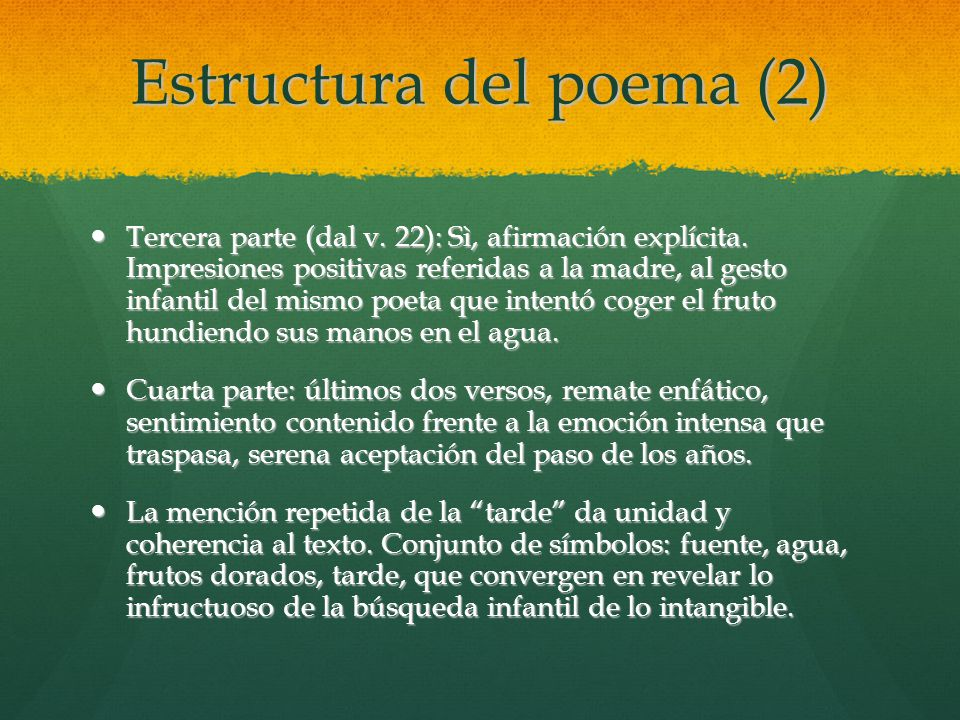 Estructura del poema (2)