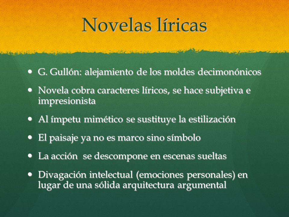 Novelas líricas G. Gullón: alejamiento de los moldes decimonónicos