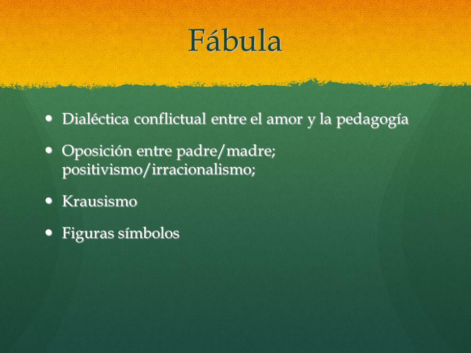 Fábula Dialéctica conflictual entre el amor y la pedagogía