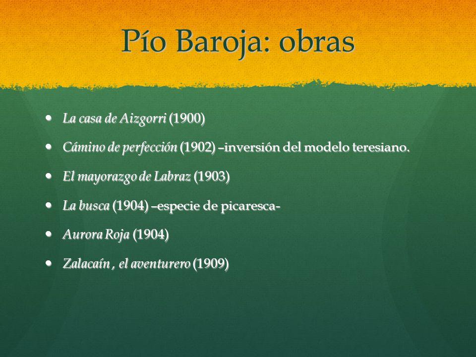 Pío Baroja: obras La casa de Aizgorri (1900)
