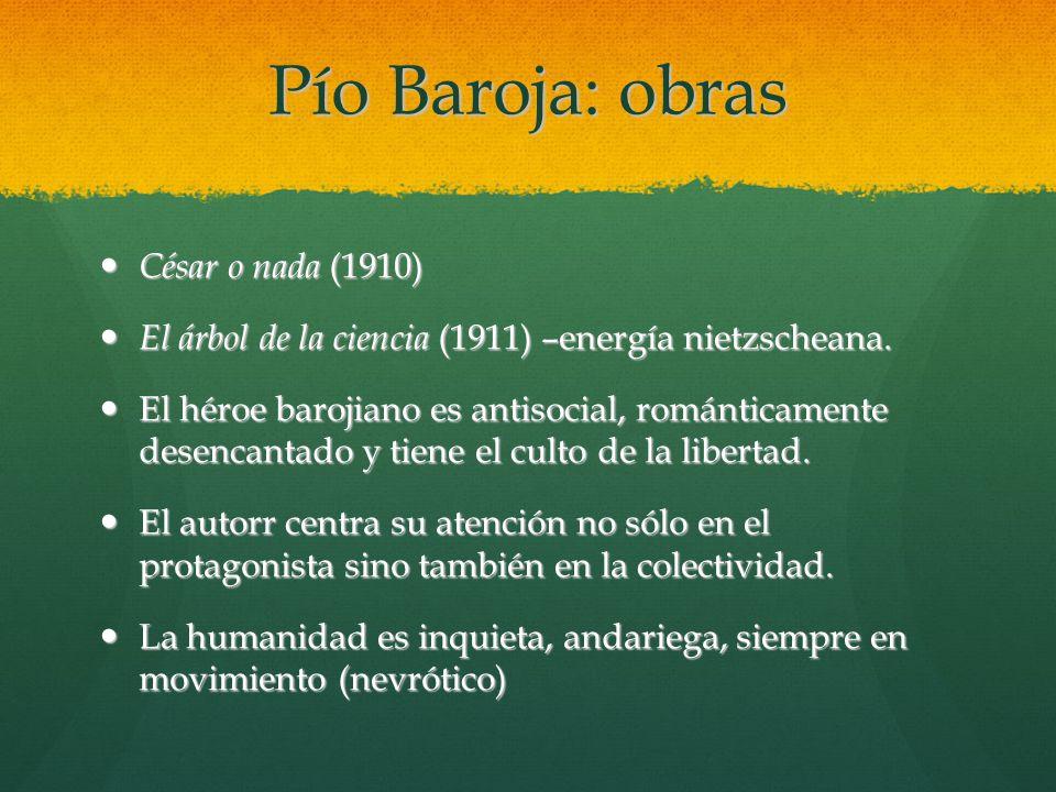 Pío Baroja: obras César o nada (1910)