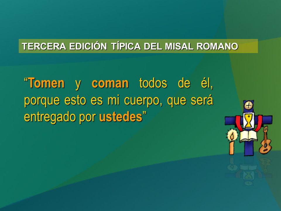TERCERA EDICIÓN TÍPICA DEL MISAL ROMANO