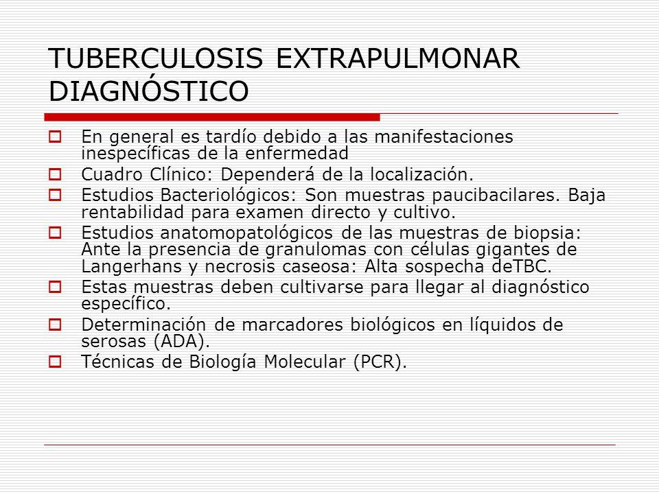 TUBERCULOSIS EXTRAPULMONAR DIAGNÓSTICO