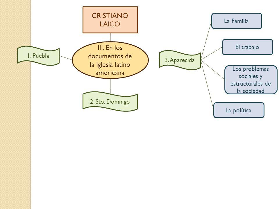 III. En los documentos de la Iglesia latino americana