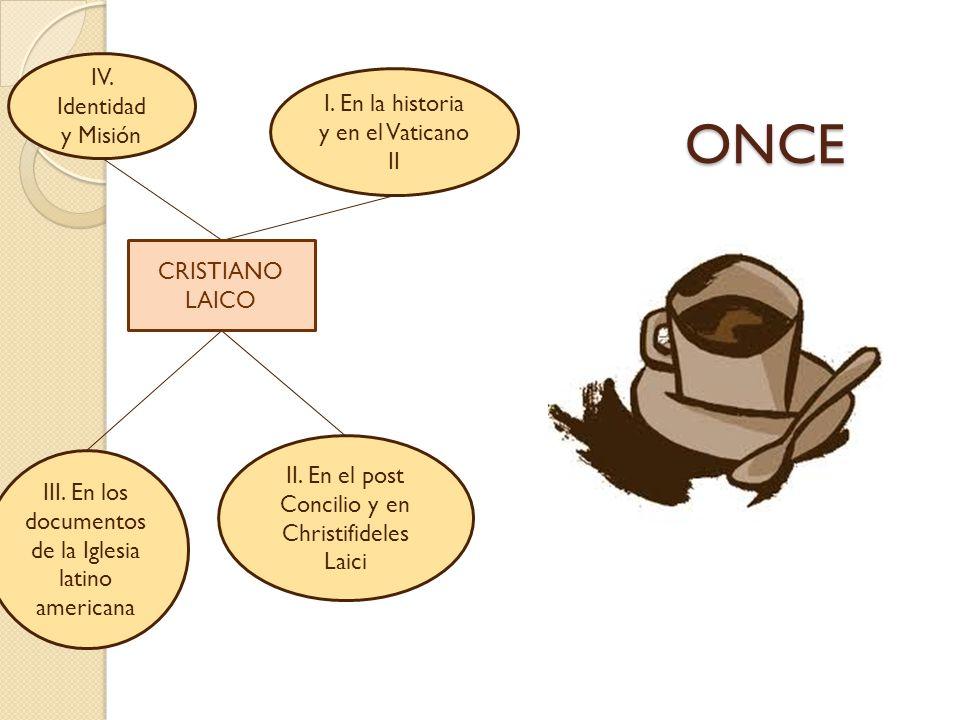 ONCE IV. Identidad I. En la historia y en el Vaticano II y Misión