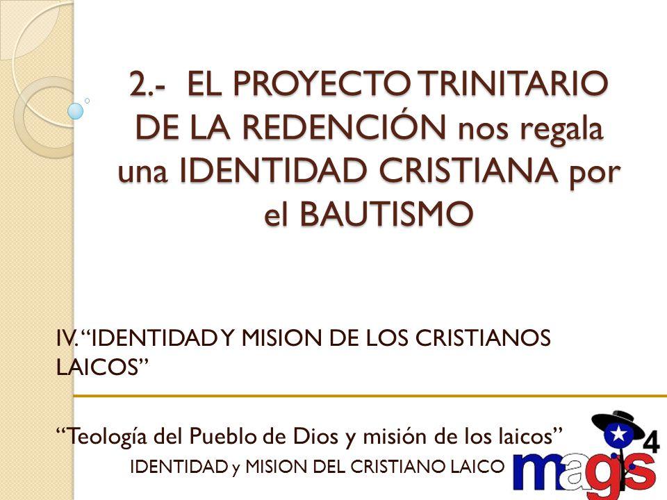 IDENTIDAD y MISION DEL CRISTIANO LAICO