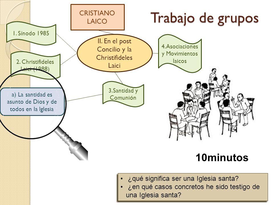 Trabajo de grupos 10minutos CRISTIANO LAICO