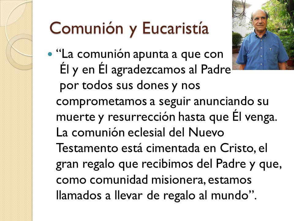 Comunión y Eucaristía