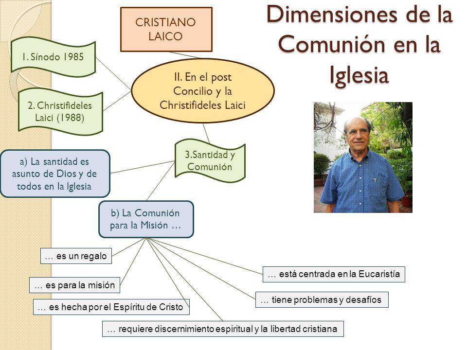 Dimensiones de la Comunión en la Iglesia